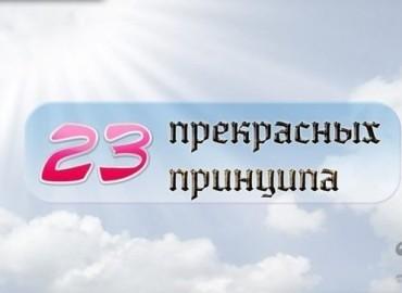 23 прекрасных принципа