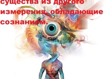Сущности – это живые существа из другого измерения, обладающие сознанием.