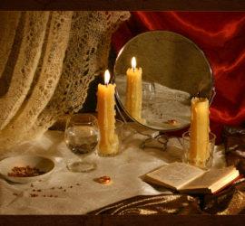 Гадания на святки…Гадание на воске…Античное гадание на иглах…